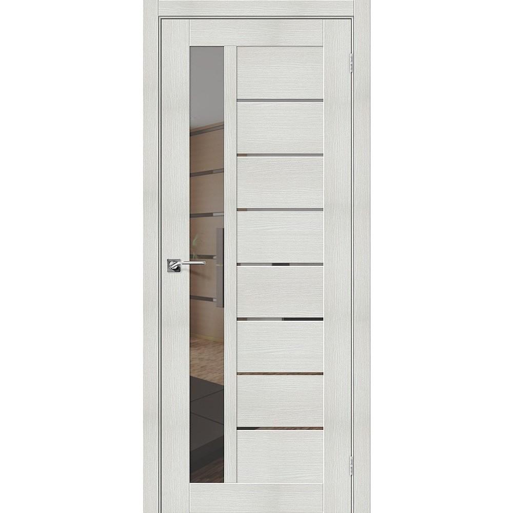 Межкомнатная дверь Порта-27 Bianco Veralinga/Mirox Grey