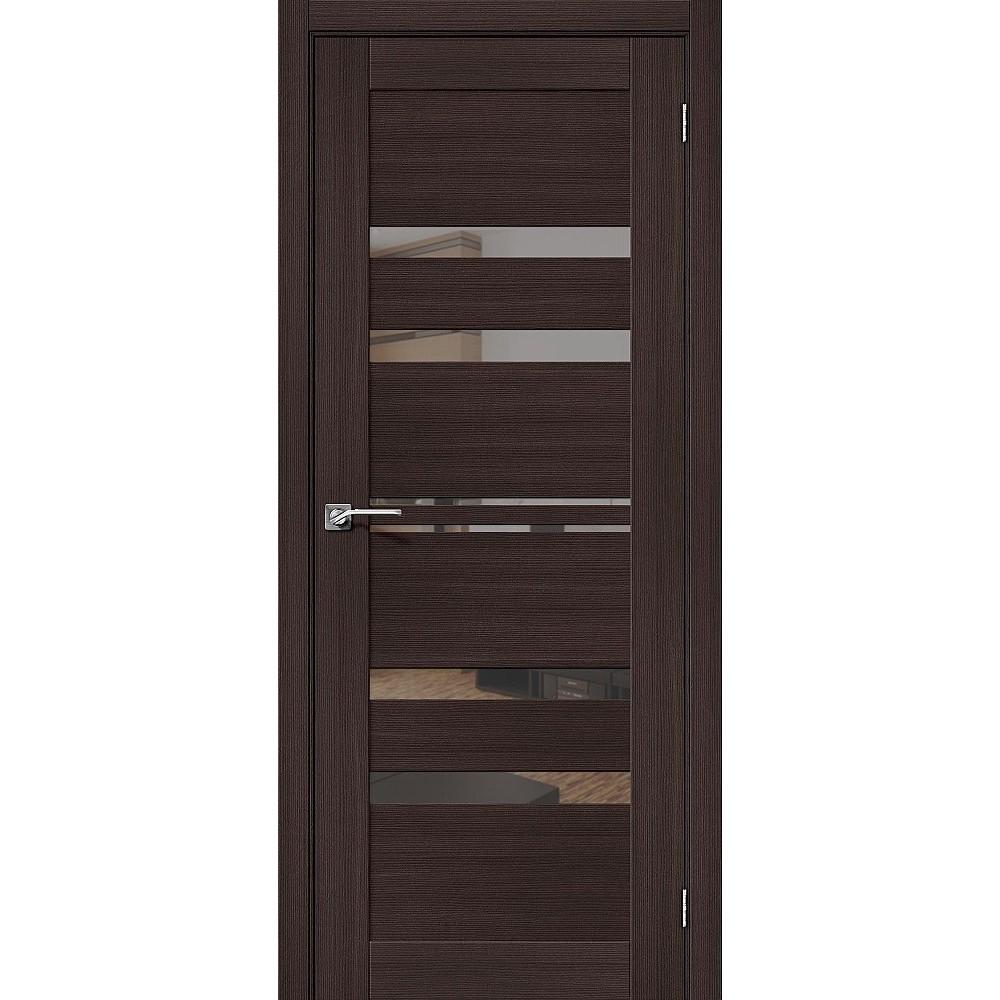 Межкомнатная дверь Порта-30 Wenge Veralinga/Mirox Grey