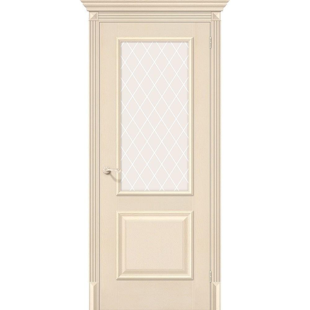 Межкомнатная дверь Классико-13 Ivory/White Сrystal