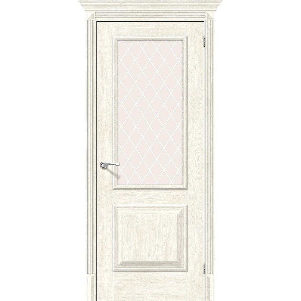 Межкомнатная дверь Классико-13 Nordic Oak/White Сrystal
