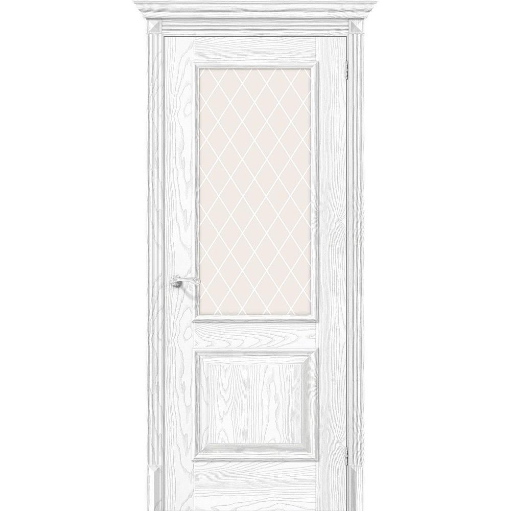 Межкомнатная дверь Классико-13 Silver Ash/White Сrystal