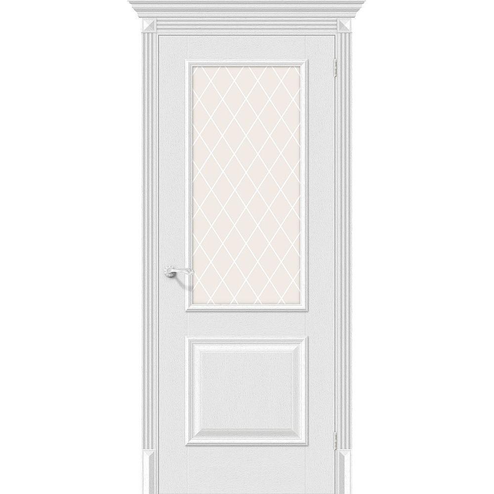 Межкомнатная дверь Классико-13 Virgin/White Сrystal