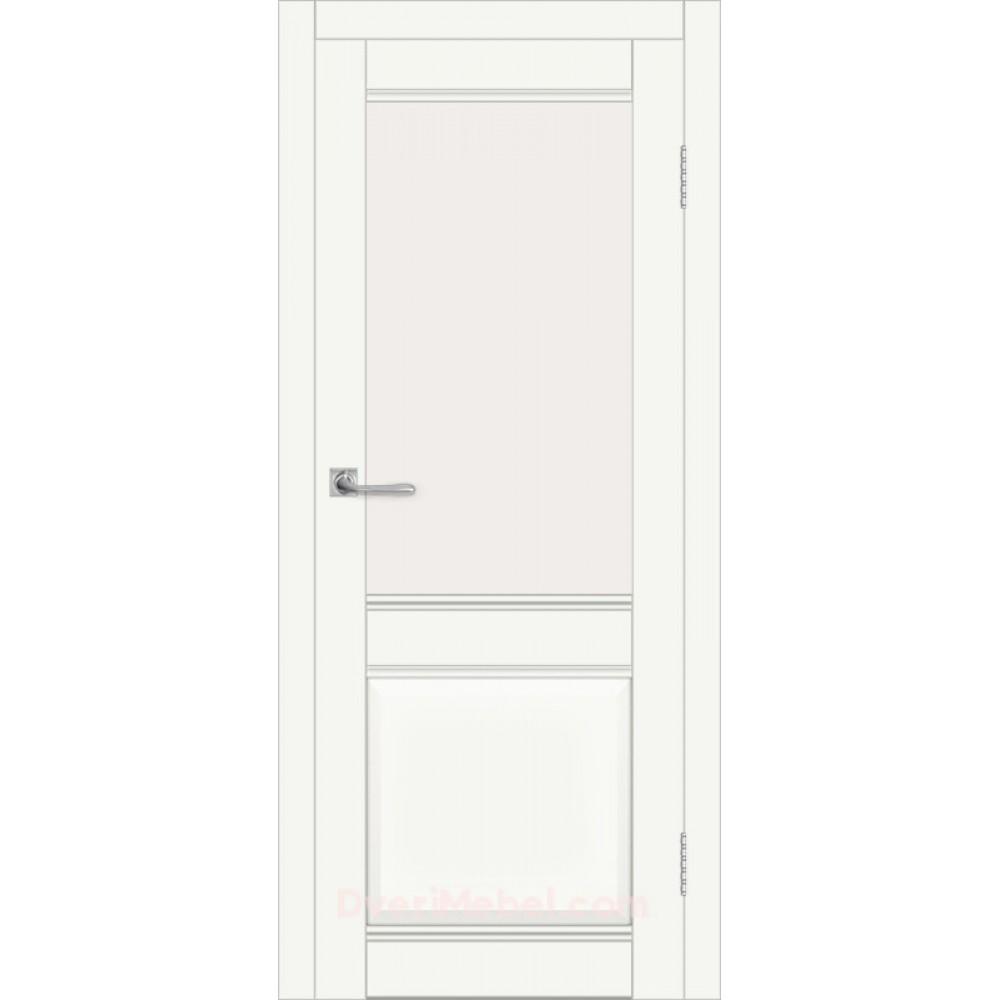 Межкомнатная дверь ДВЕРЬ ДП DIM I-11 CRYSTAL MATT САТИНАТО БЕЛЫЙ