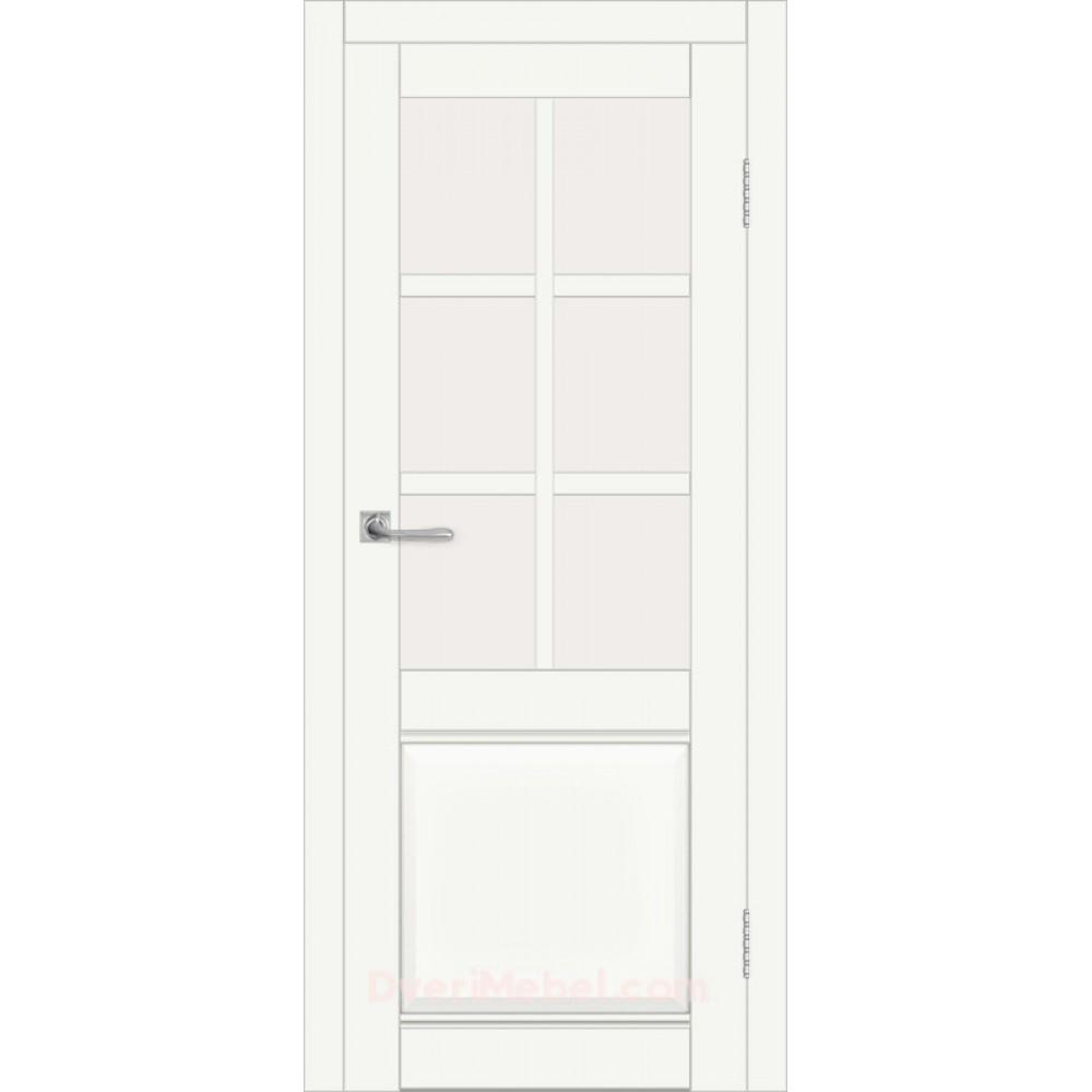 Межкомнатная дверь DIM I-15 CRYSTAL MATT САТИНАТО БЕЛЫЙ в Белгороде