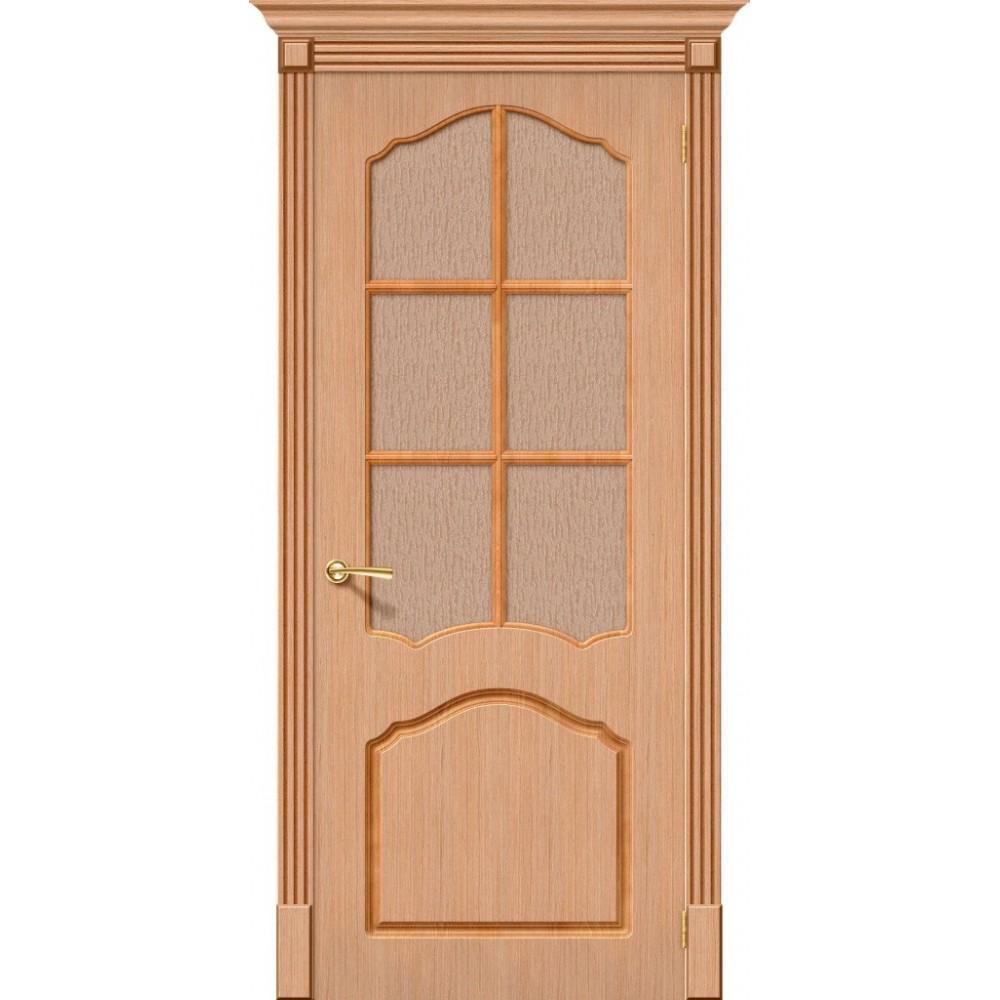 Межкомнатная дверь Каролина Ф-01 (Дуб)/Риф.