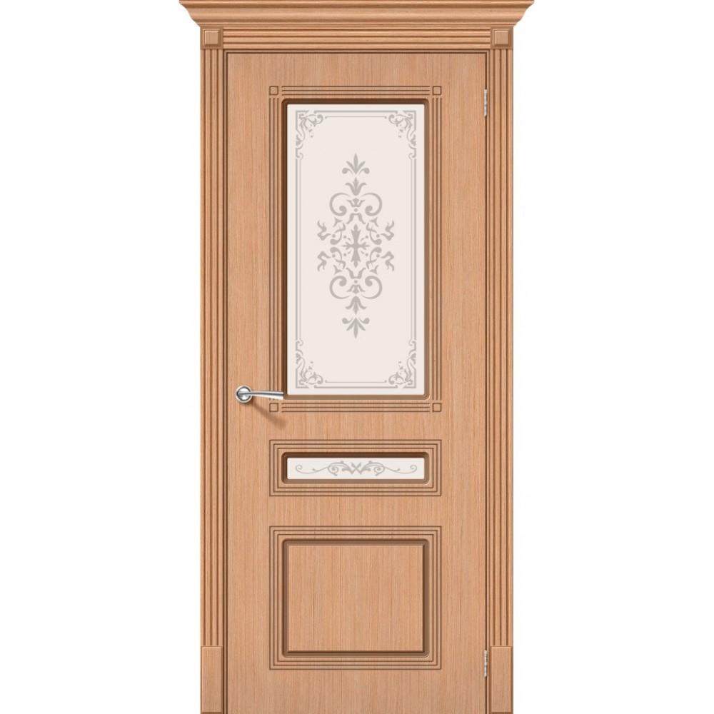 Межкомнатная дверь Стиль Ф-01 (Дуб)/Худ.