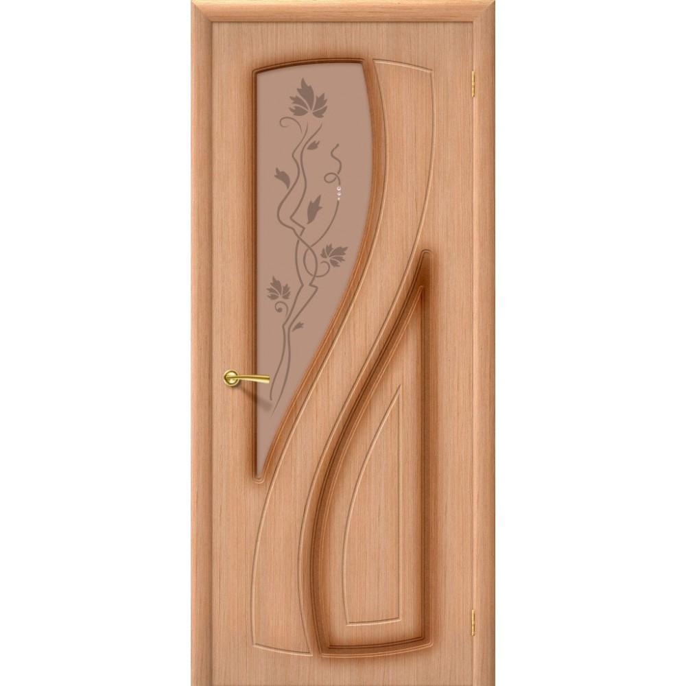 Межкомнатная дверь Лагуна Ф-01 (Дуб)/Худ.