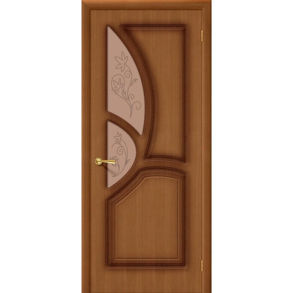 Межкомнатная дверь Греция Ф-11 (Орех)/Худ.