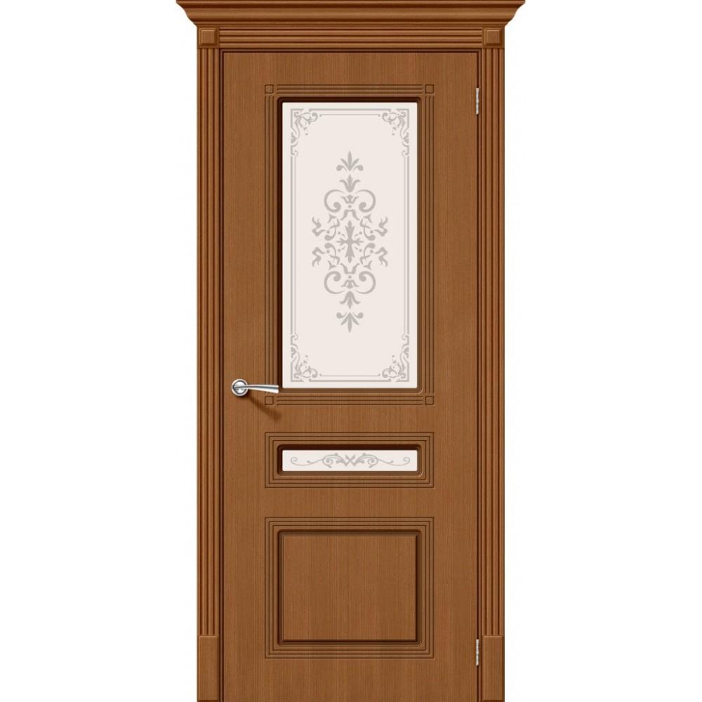 Межкомнатная дверь Стиль Ф-11 (Орех)/Худ.