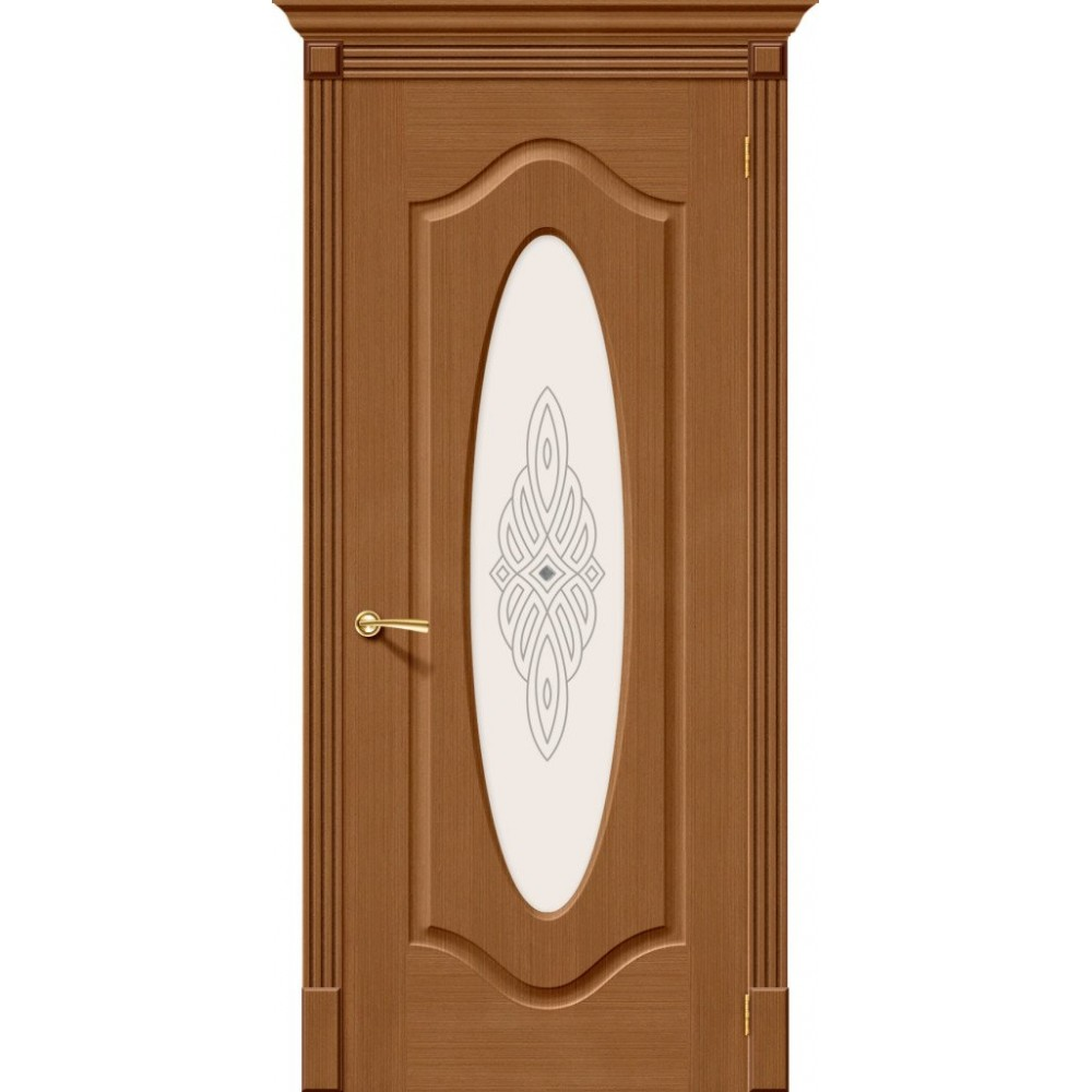 Межкомнатная дверь Аура Ф-11 (Орех)/Худ.