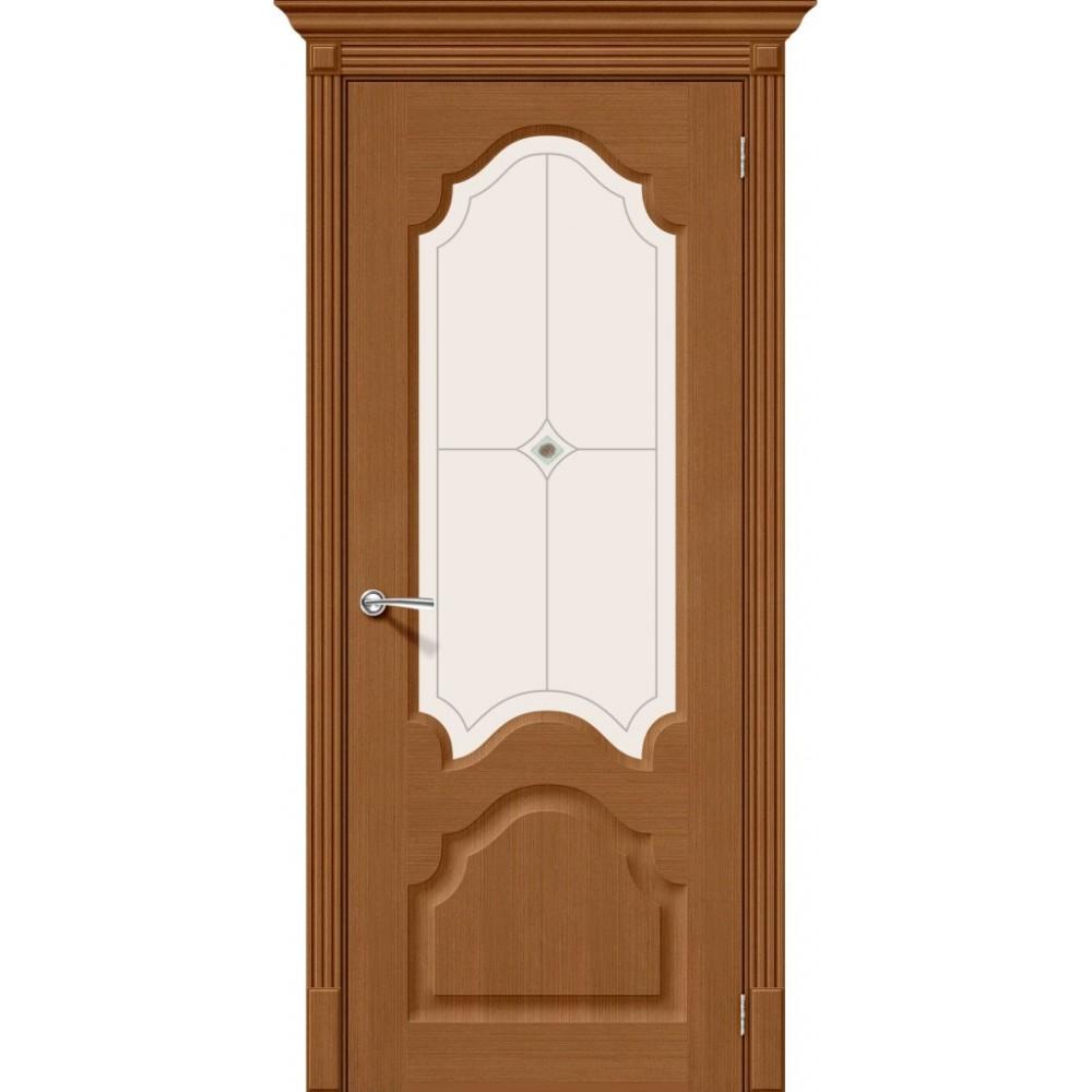 Межкомнатная дверь Афина Ф-22 Ф-11 (Орех)/Худ.