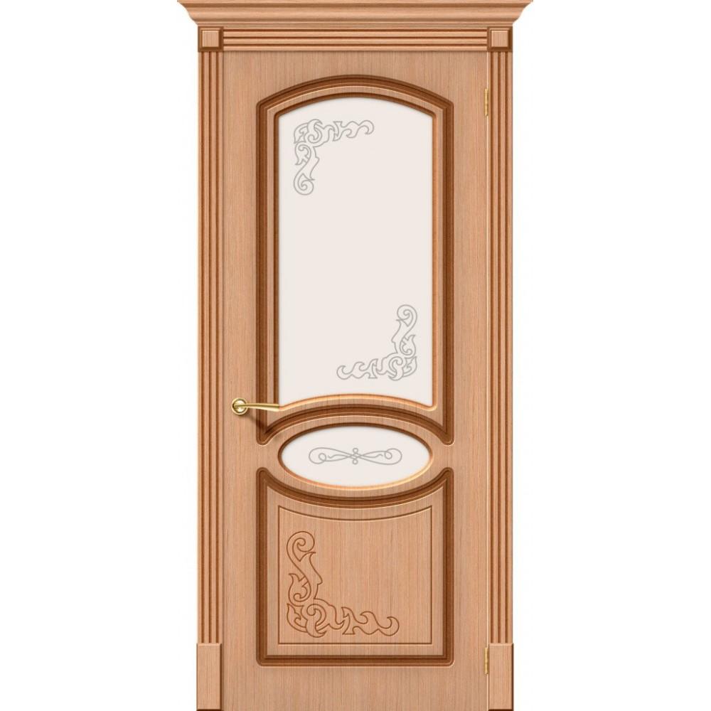 Межкомнатная дверь Азалия Ф-01 (Дуб)/Худ.