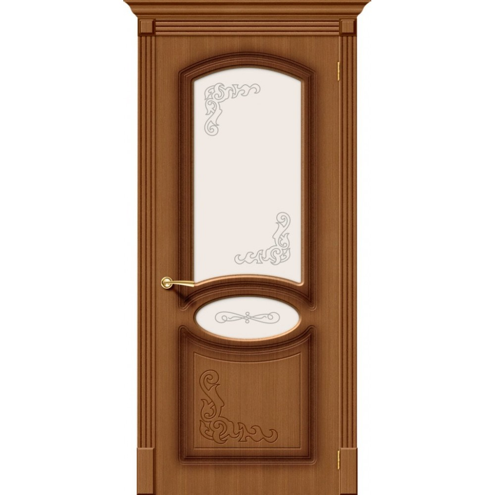 Межкомнатная дверь Азалия Ф-11 (Орех)/Худ.