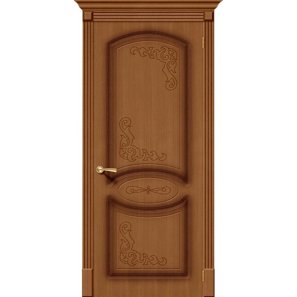 Межкомнатная дверь Азалия Ф-11 (Орех)