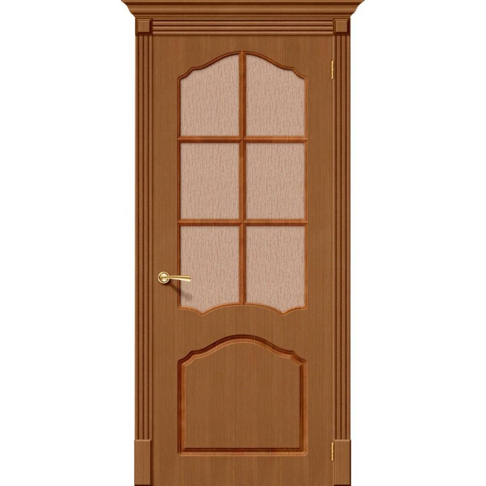 Межкомнатная дверь Каролина Ф-11 (Орех)/Риф.
