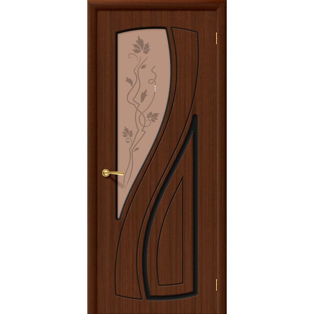 Межкомнатная дверь Лагуна Ф-17 (Шоколад)/Худ.