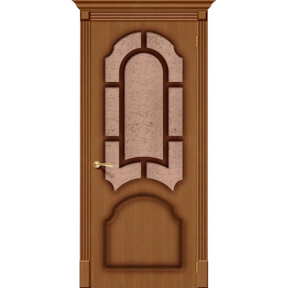 Межкомнатная дверь Соната Ф-11 (Орех)/Риф.