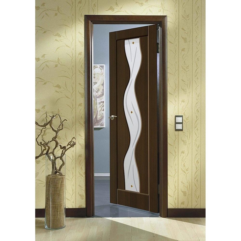 Межкомнатная дверь Вираж-2 Dark Barnwood/Art Glass