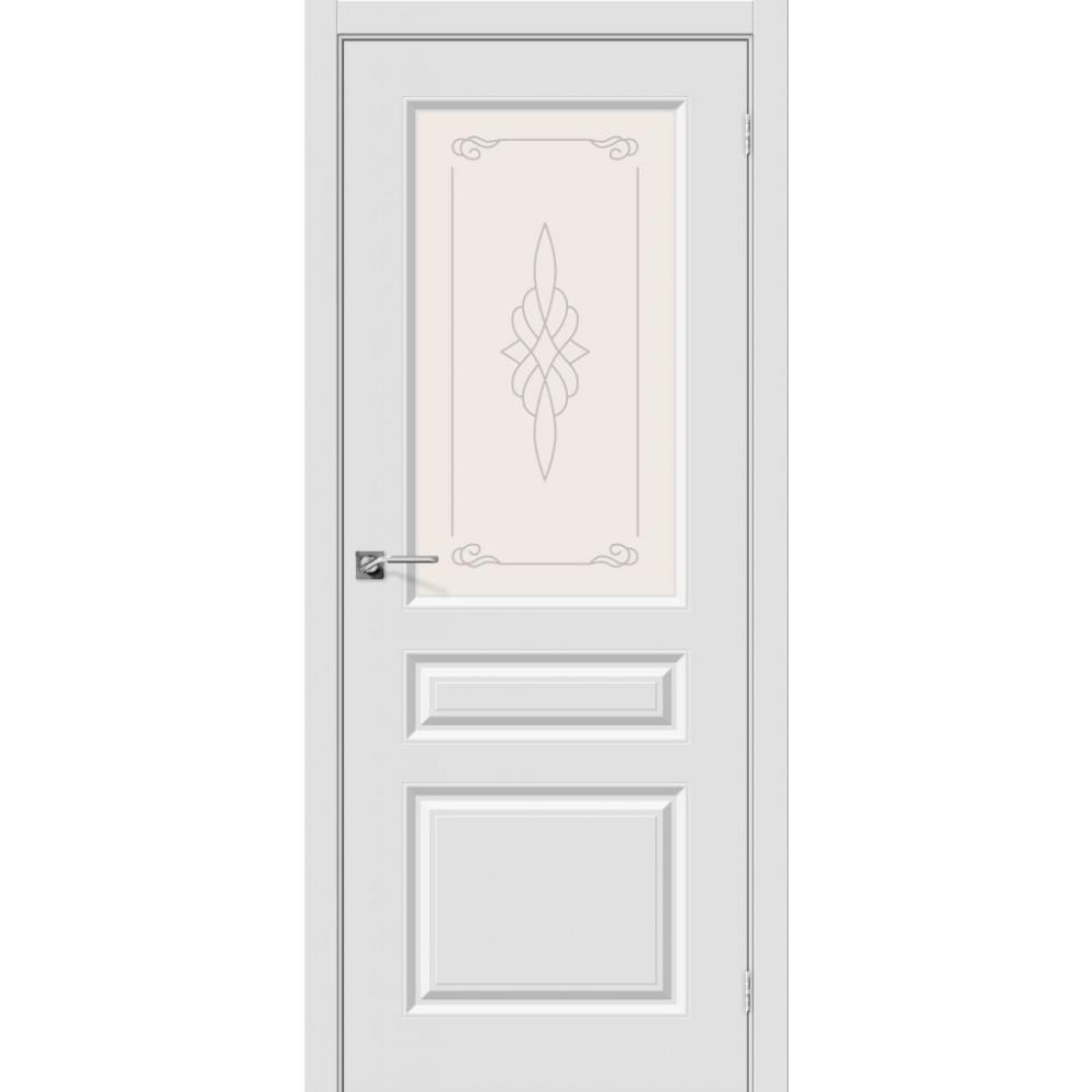 Межкомнатная дверь Скинни-15 П-23 (Белый)/Худ.
