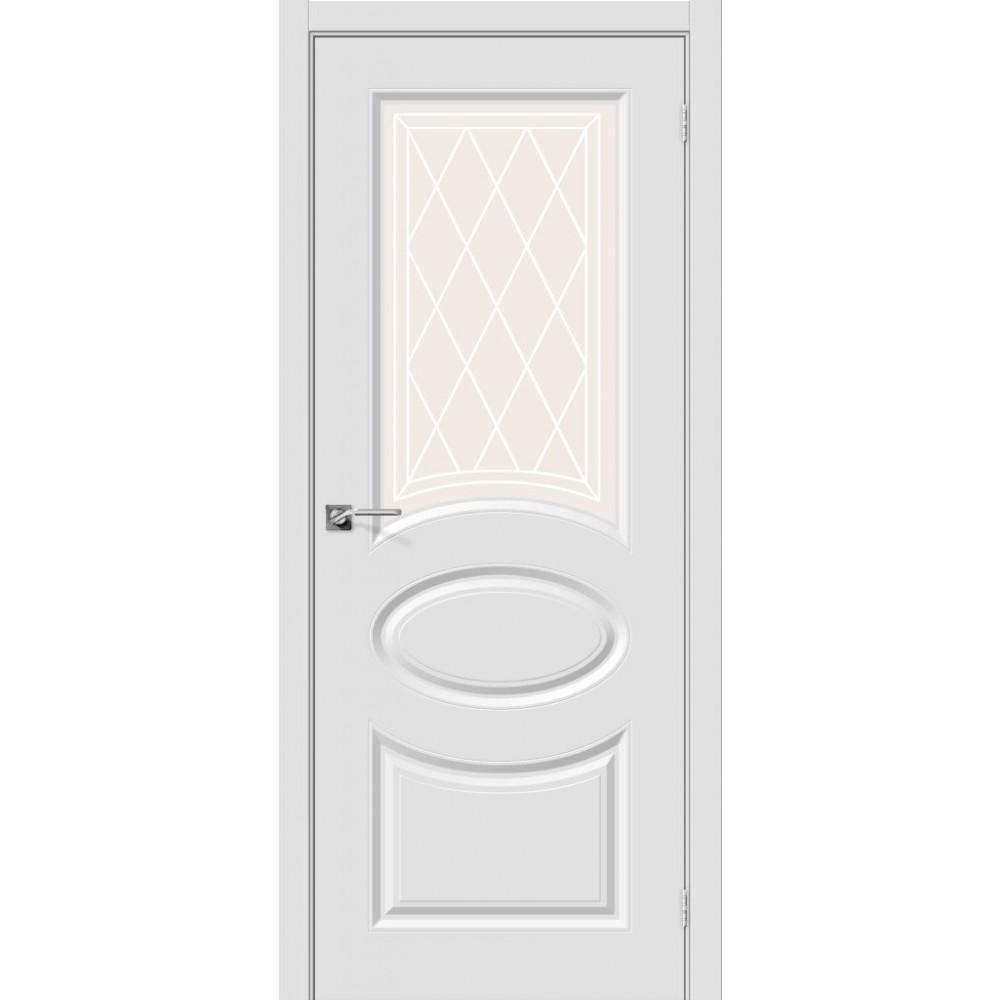 Межкомнатная дверь Скинни-21 П-23 (Белый)/Худ.