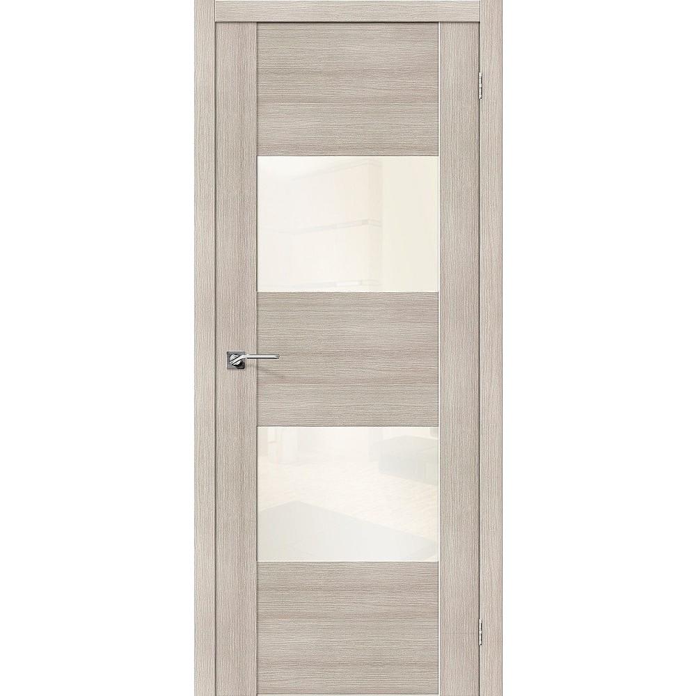 Межкомнатная дверь VG2 WР Cappuccino Veralinga/White Pearl