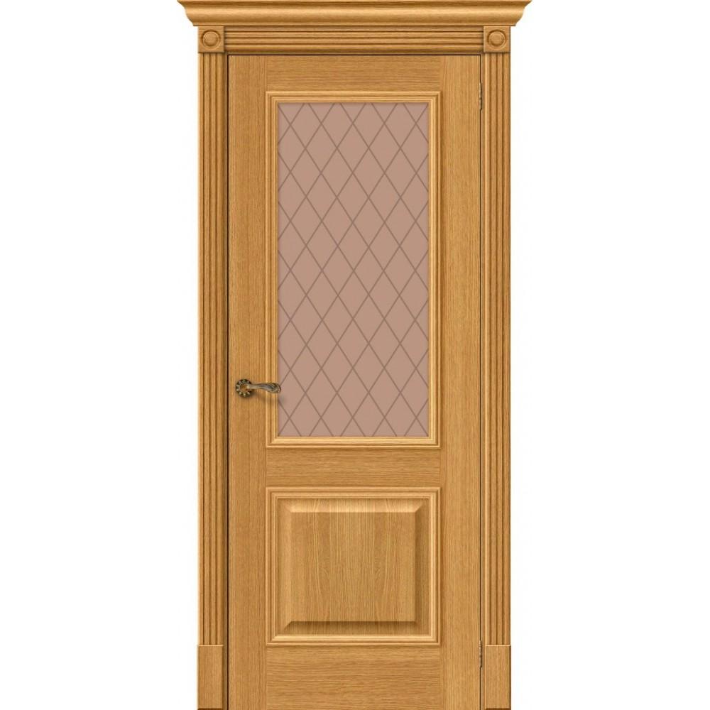 Межкомнатная дверь Вуд Классик-13 Natur Oak/Bronze Сrystal