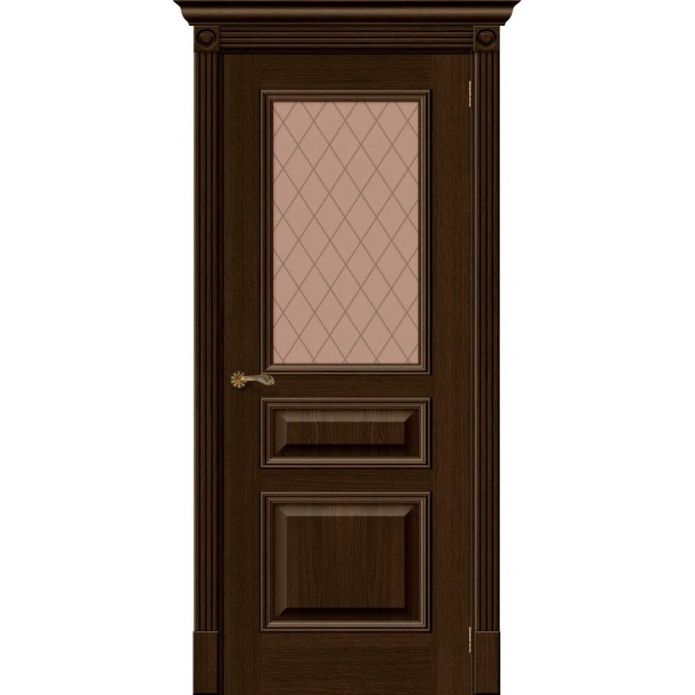 Межкомнатная дверь Вуд Классик-15.1 Golden Oak/Bronze Сrystal