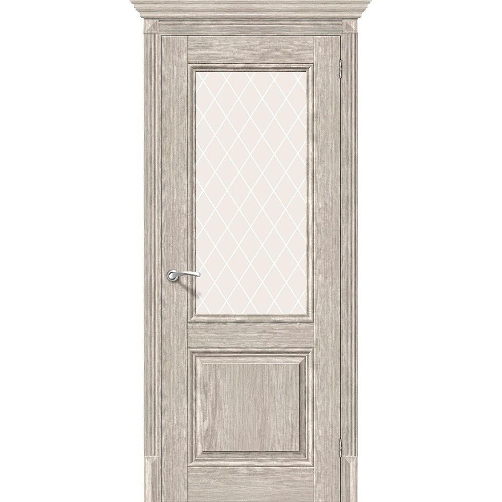 Межкомнатная дверь Классико-33 Cappuccino Veralinga/White Сrystal