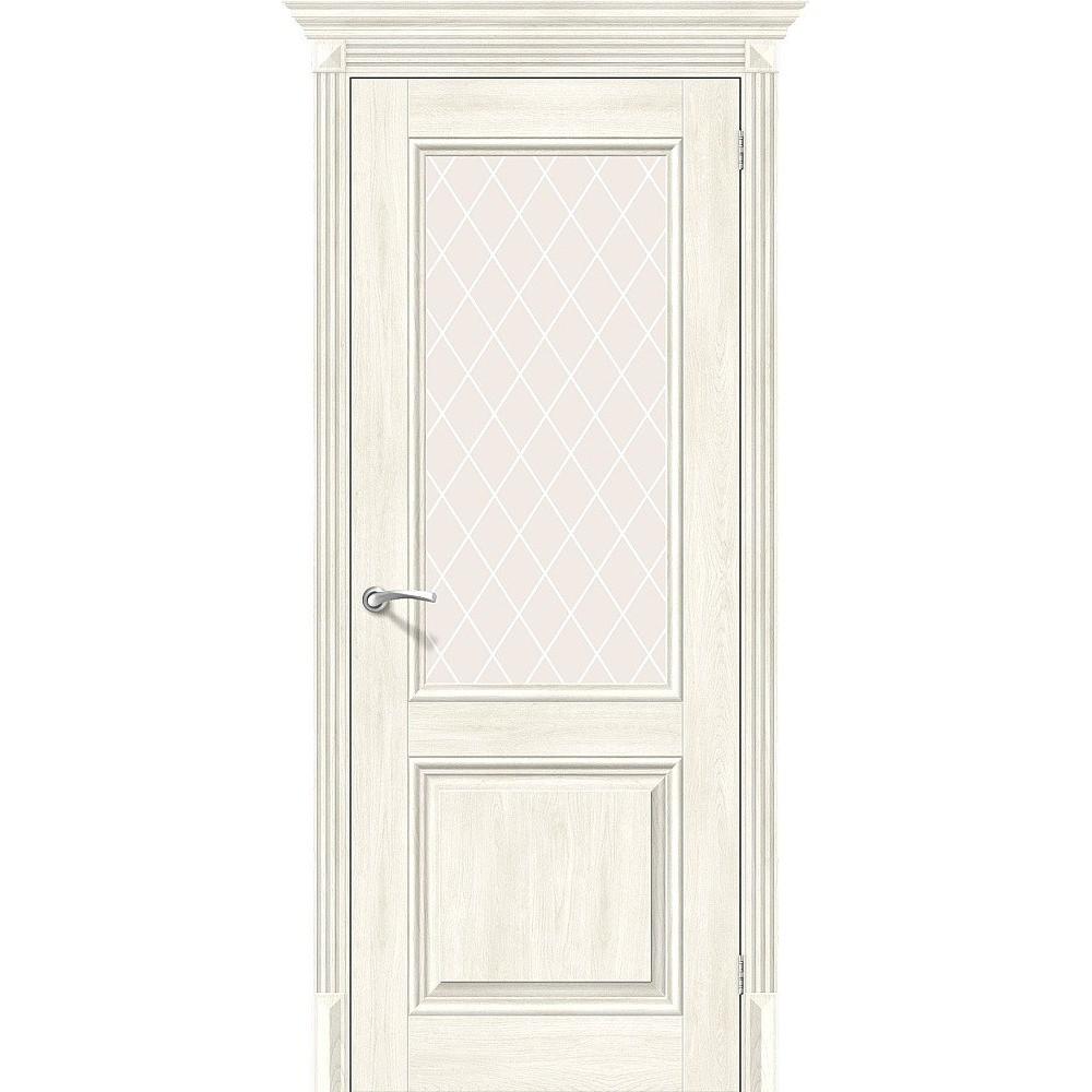 Межкомнатная дверь Классико-33 Nordic Oak/White Сrystal