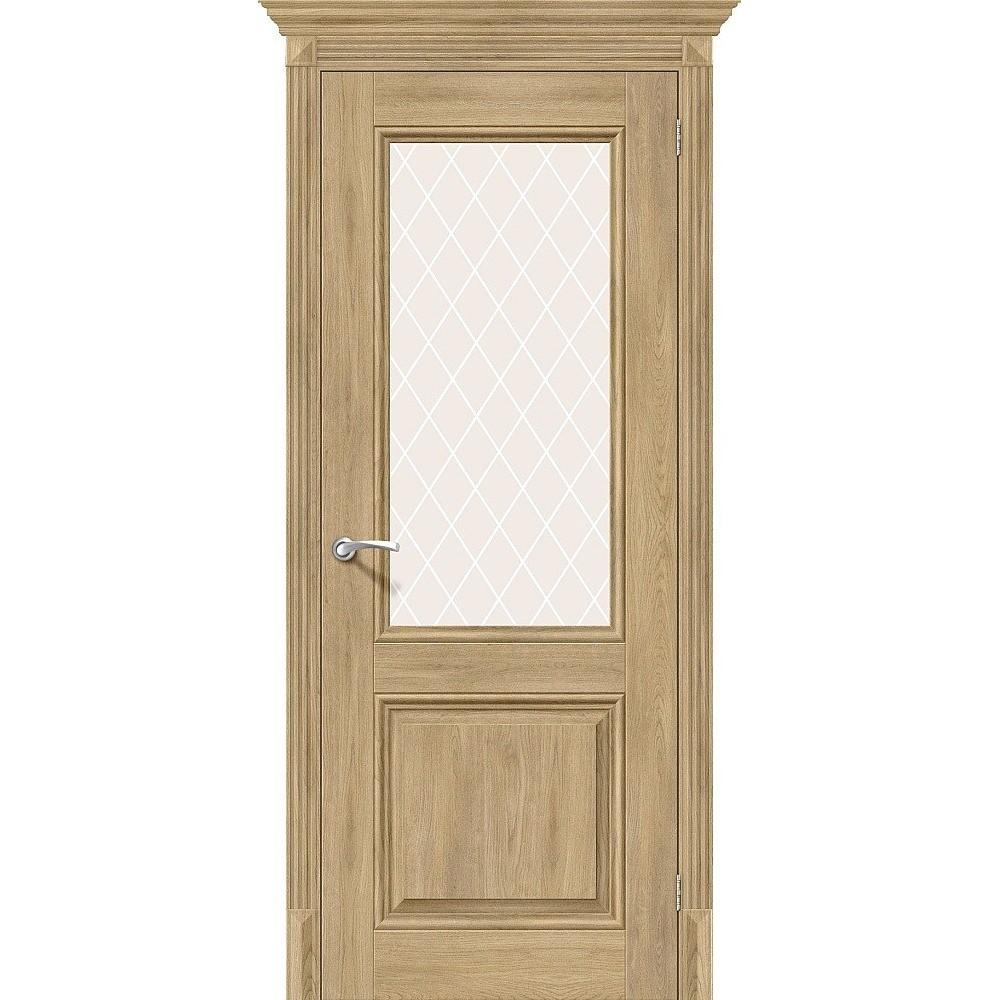 Межкомнатная дверь Классико-33 Organic Oak/White Сrystal