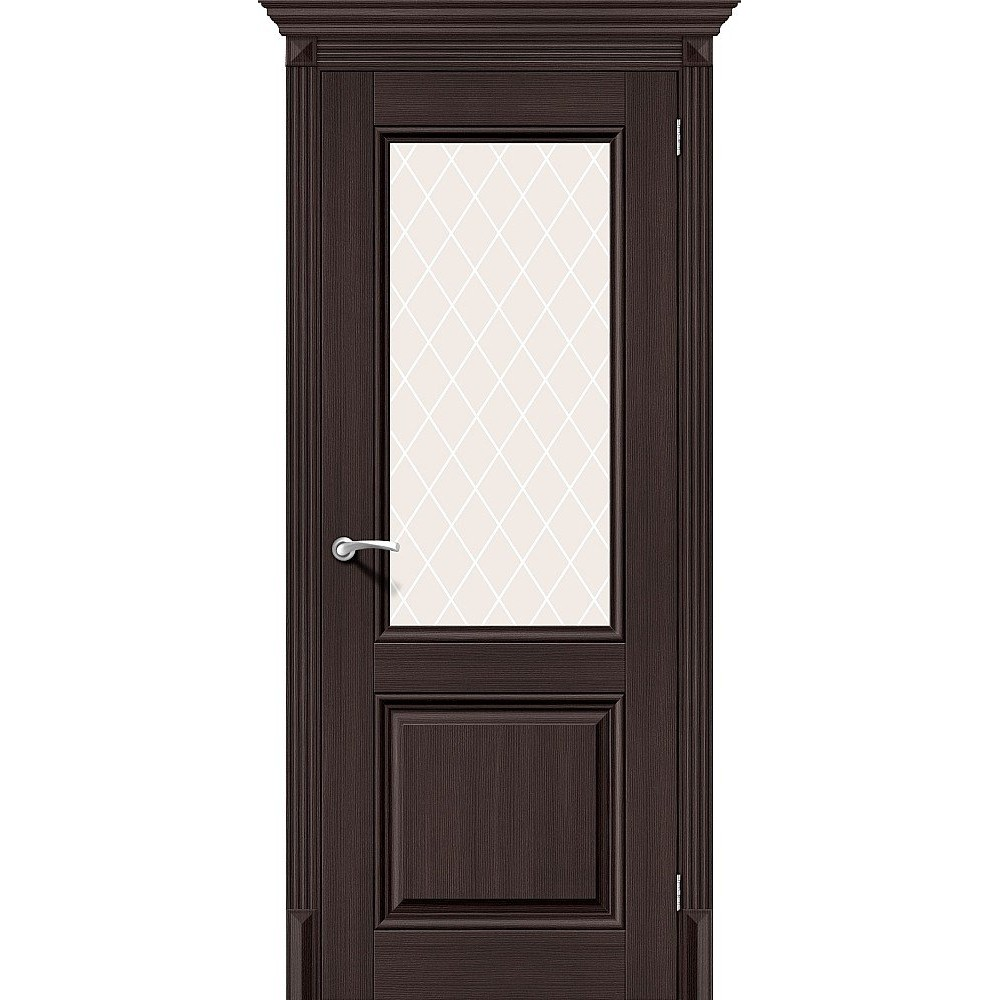 Межкомнатная дверь Классико-33 Wenge Veralinga/White Сrystal