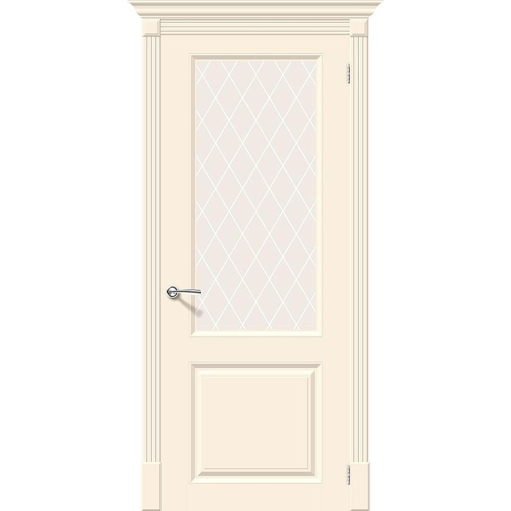 Межкомнатная дверь Скинни-13 Cream/White Сrystal