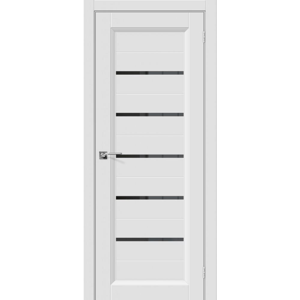 Межкомнатная дверь Скинни-51 Black Line Whitey