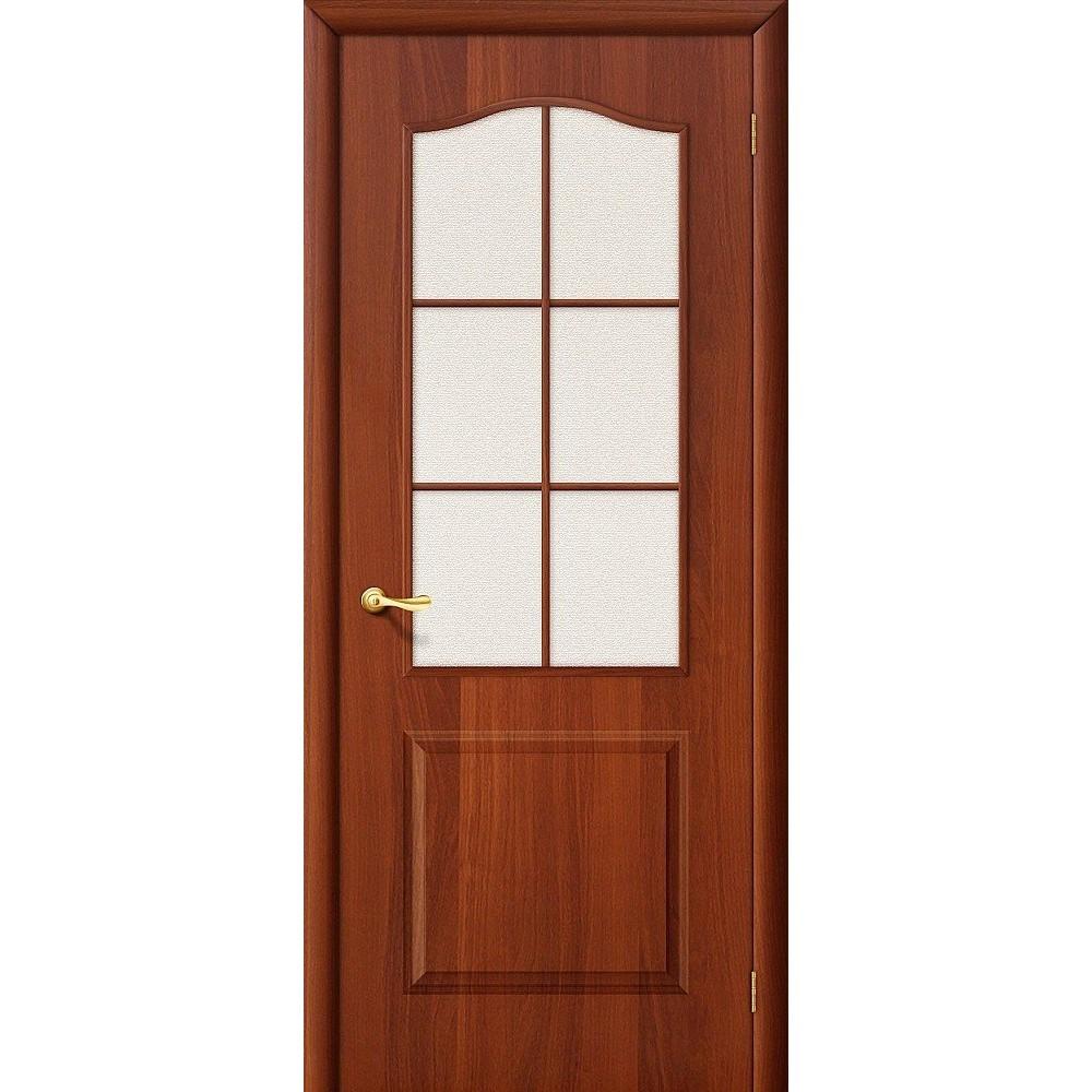 Межкомнатная дверь Палитра Л-11 (ИталОрех)/Хрусталик