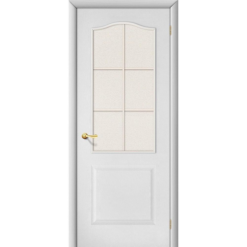 Межкомнатная дверь Палитра Л-23 (Белый)/Хрусталик