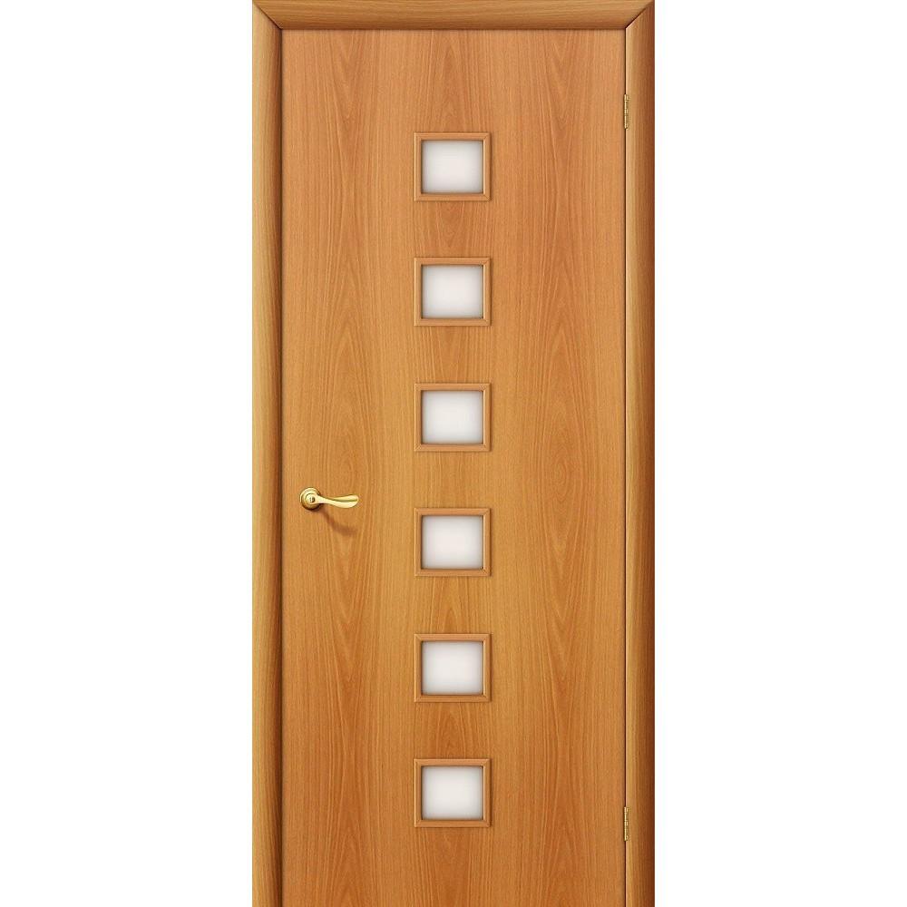 Межкомнатная дверь 1C Л-12 (МиланОрех)/Сатинато