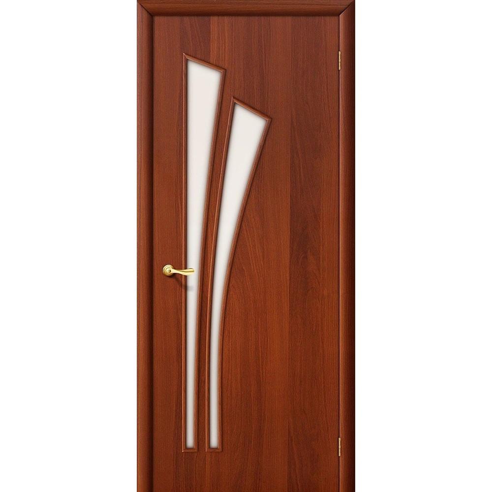 Межкомнатная дверь 4C  Л-11 (ИталОрех)/Сатинато