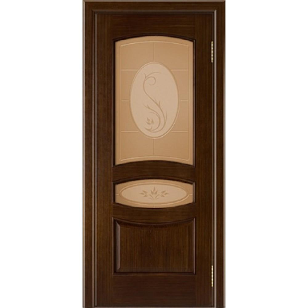 Межкомнатная дверь «АЛИНА» орех тон 2 СТ