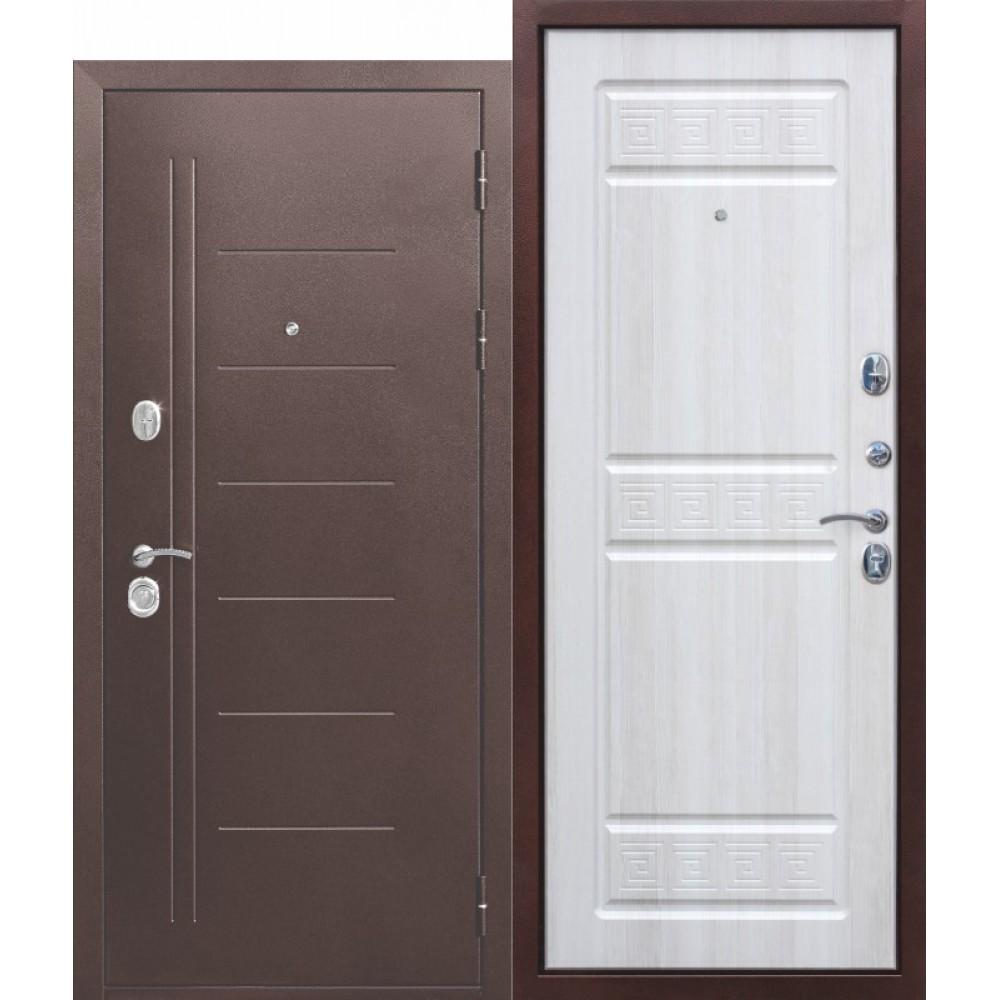 Входная металлическая дверь 10 см Троя Антик Белый Ясень. Доставка до 4 -х дней.