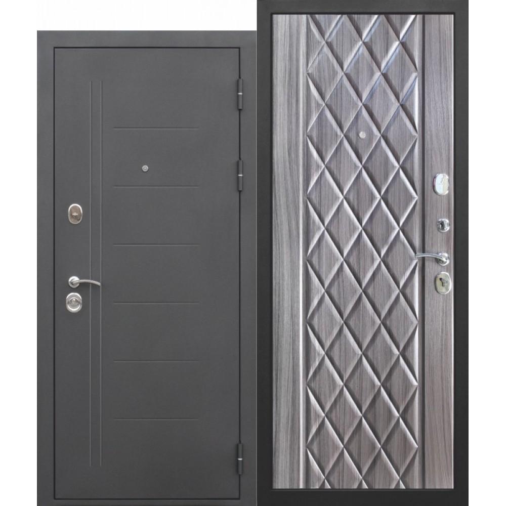 Входная металлическая дверь Входная дверь 10 см Троя Муар Палисандр темный.