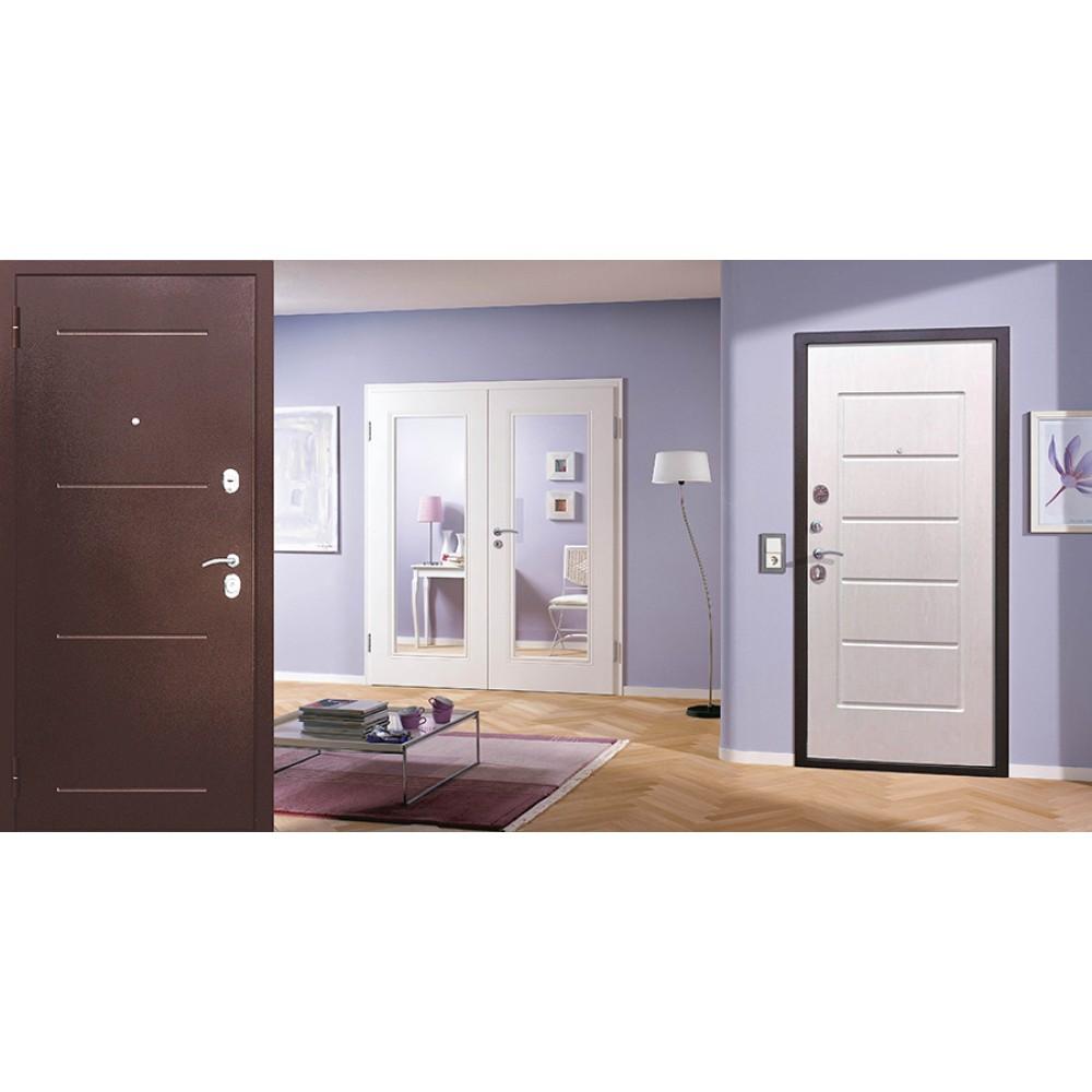 Входная металлическая дверь 7,5 Гарда Белый ясень.