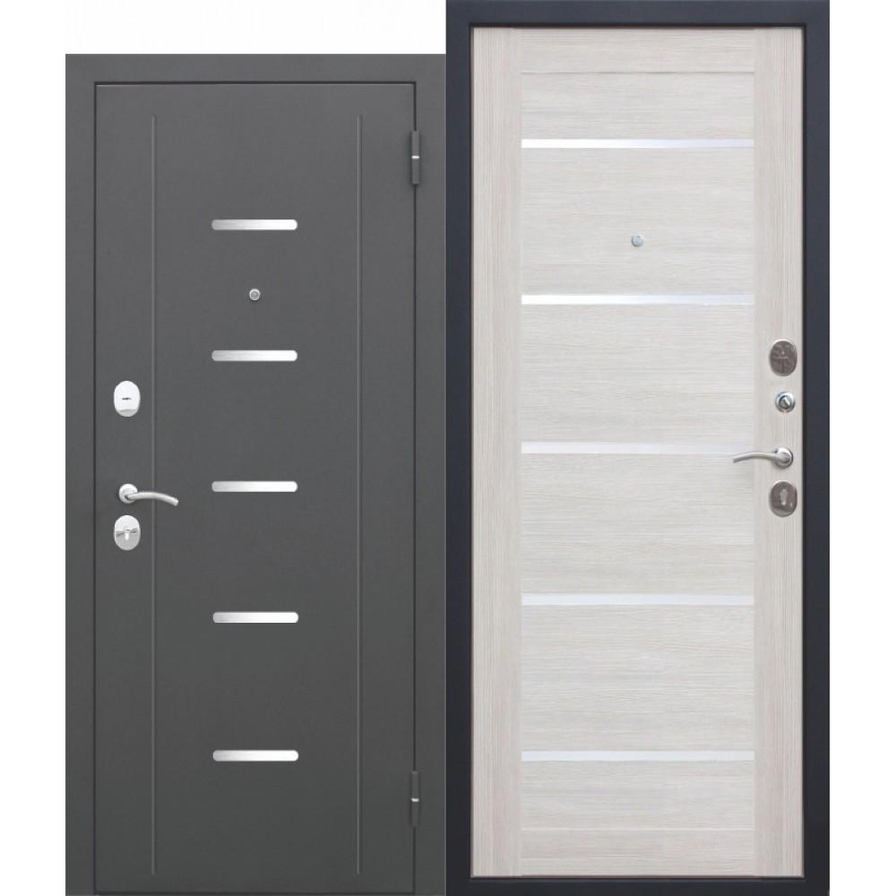 Входная металлическая дверь 7,5 Гарда Муар ЦАРГА Лиственница беж. Доставка до 4 -х дней.