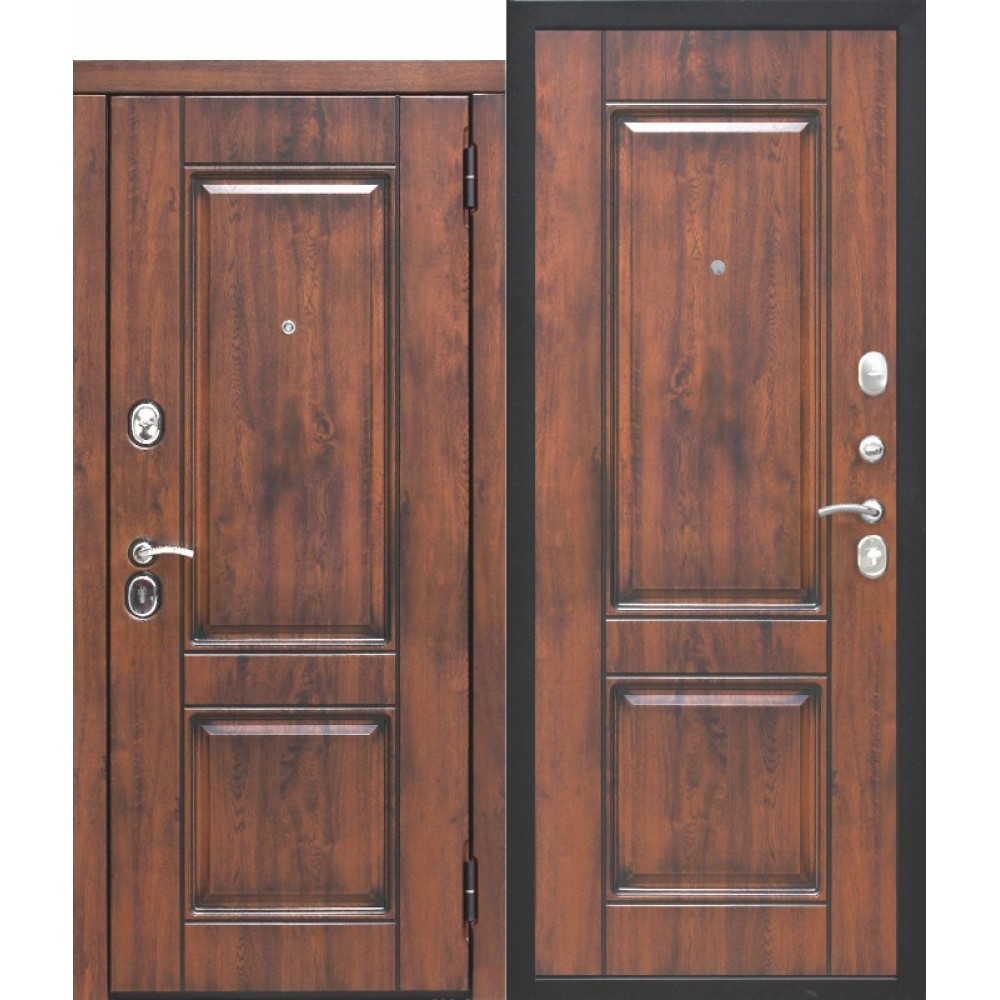 Входная дверь 9,5 см ВЕНА Vinorit Патина МДФ/МДФ Грецкий Орех Патина. Доставка до 4 -х дней.