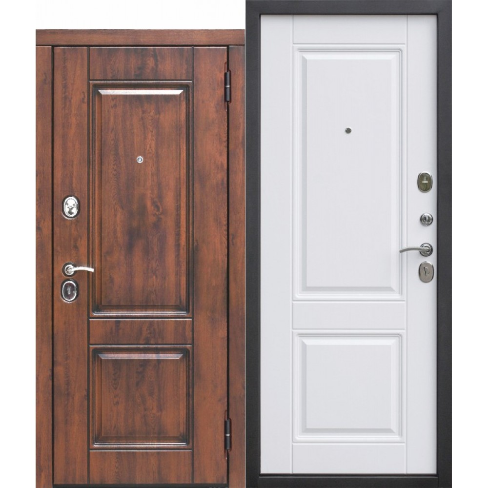 Входная дверь 9,5 см ВЕНА Vinorit Патина МДФ/МДФ Белый матовый. Доставка до 4 -х дней.