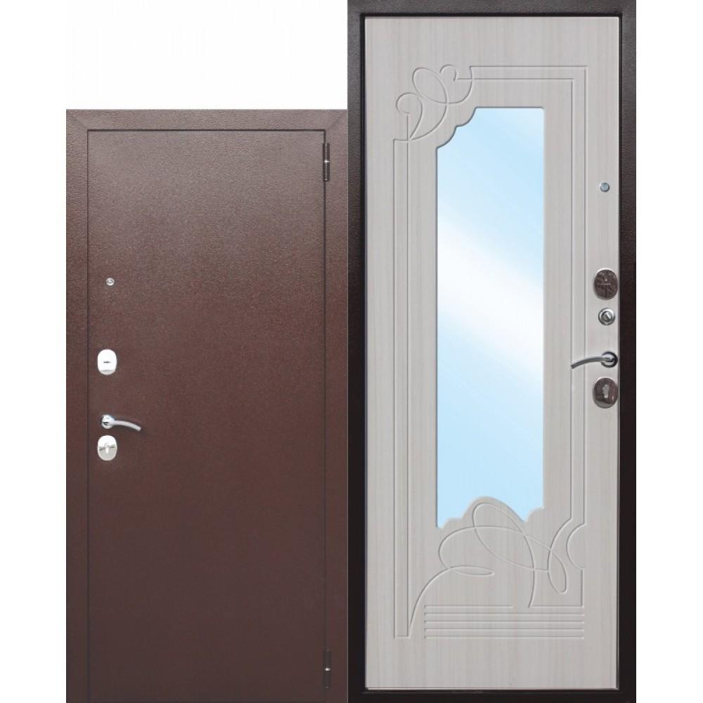 Входная металлическая дверь Ампир Белый ясень.