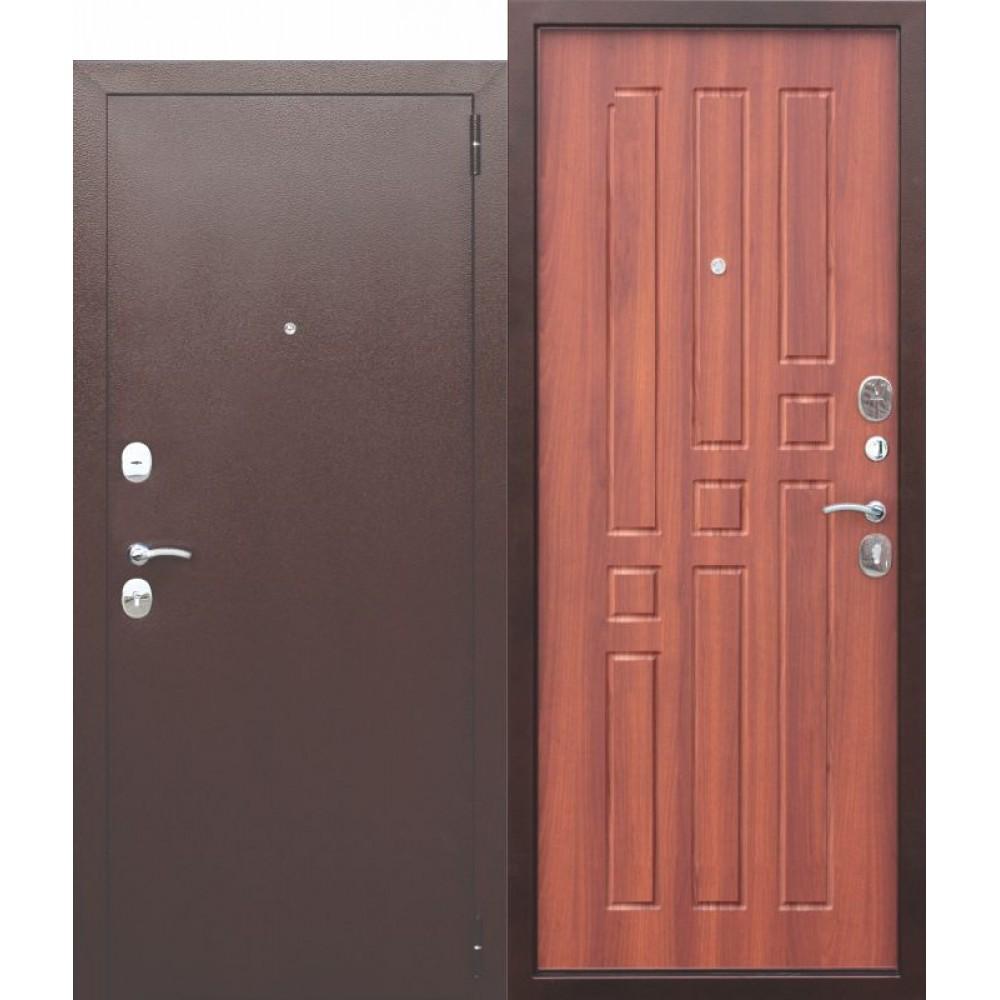 Входная металлическая дверь Гарда 8 мм Рустикальный дуб.