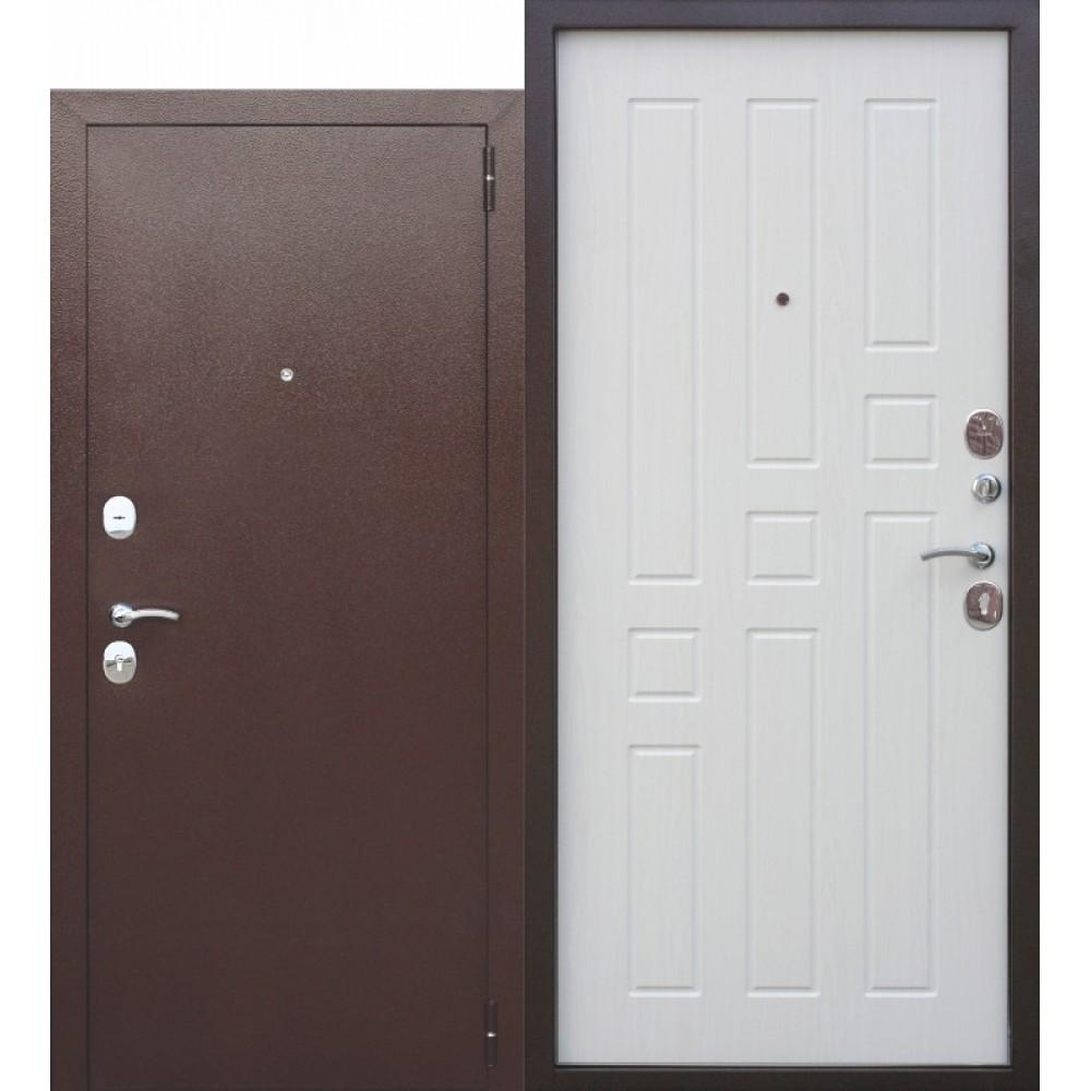 Входная металлическая дверь Гарда 8 мм Белый ясень.