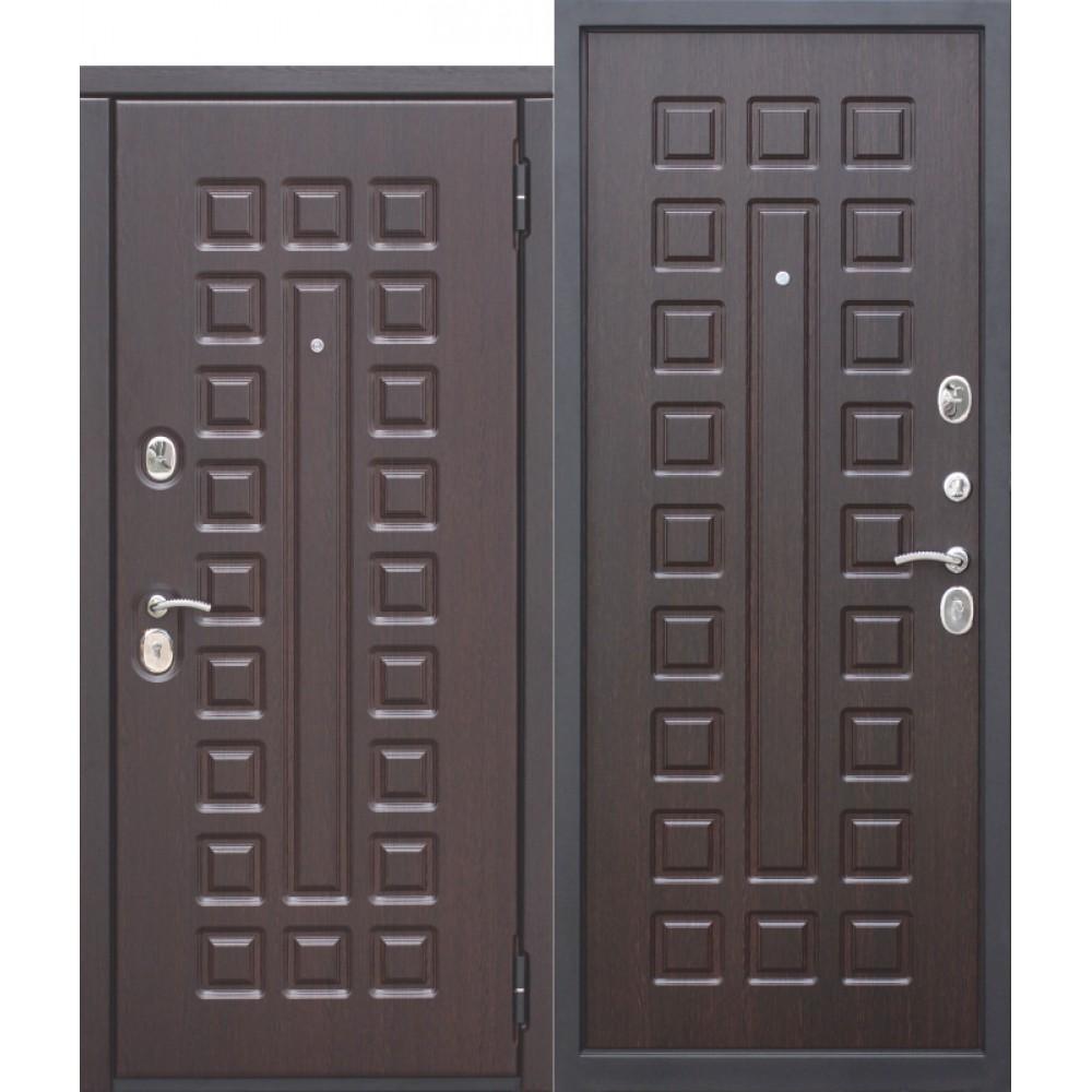 Входная дверь 10 см МОНАРХ МДФ/МДФ Венге с МДФ панелями. Доставка до 4 -х дней.