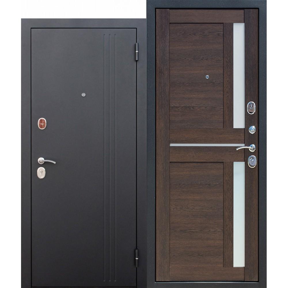 Входная металлическая дверь 7,5 см НЬЮ-ЙОРК Царга Каштан мускат.