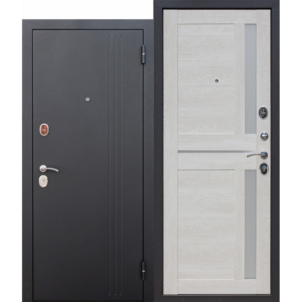 Входная металлическая дверь 7,5 см НЬЮ-ЙОРК Царга Каштан перламутр.